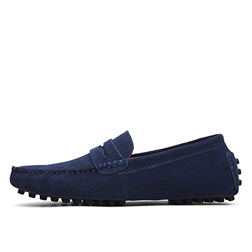 Nhatycir Business pelle barca ShoesUp casual guida da da Scarpe Mocassini Slip in EU Mocassini on scamosciata scamosciata uomo pelle to Scarpe da Flat Size Fashion 49 scivolate Mocassini in USrxZU