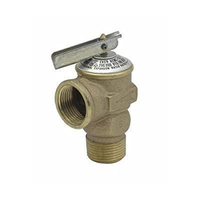 """Cash Acme Pressure Only Relief Valve Tankless 3/4 """" Fip 75 Psi by Cash Acme"""