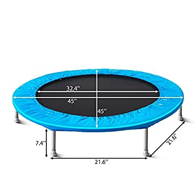 ENDLESS 【Ship Within 48 Hours】 45 INCH Fitness Trampoline Rebounder Kids Gymnastics Equipment Cardio Trainer for Indoor Outdoor Kid Adult Trampoline : Sports & Outdoors