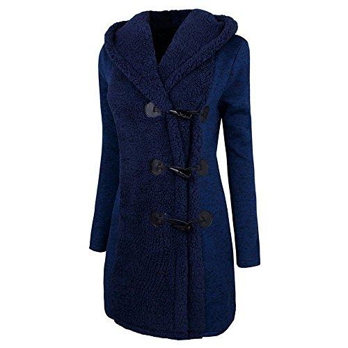 Abrigo Abrigo Moda Invierno Gruesas Beikoard De Mujeres Más Botones Azul De Abrigo Calor De Peluche Chaqueta Parka De Outwear 6qx0HdA0