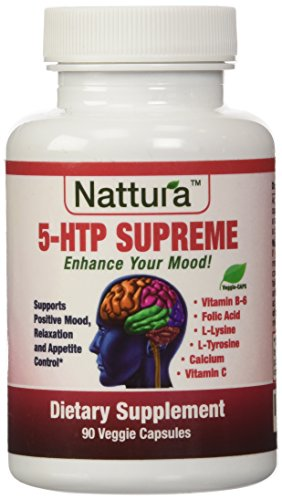 5-HTP SUPREME - For Positive Mood, Relaxation and Appetite Control - With 5-HTP, L-Tyrosine, L-Lysine, Vitamin B6, Folate (Folic Acid), Vitamin C (Ascorbic Acid), Calcium - 90 Capsules