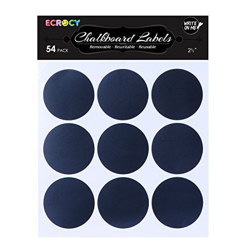 Ecrocy Circle Chalkboard Sticker Labels product image