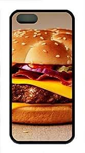 iPhone 5 5S Case Cheeseburger125 TPU Custom iPhone 5 5S Case Cover Black