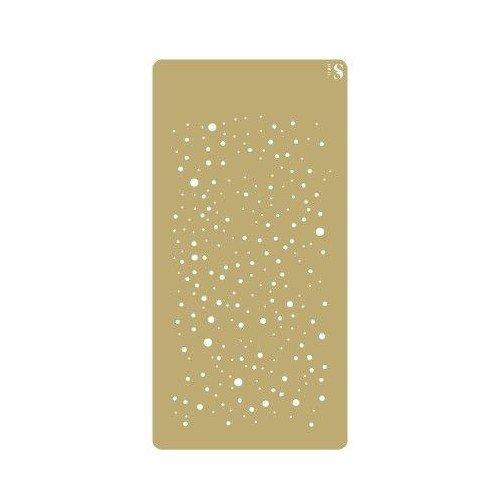 TODO-STENCIL Stencil Deco Scrapbooking 058 Snow. Stencil size: 10 x 20 cm (3, 9x7, 9 in). Design size: 8 x 17 cm (3, 1x6, 7 in) Wega Elite Products