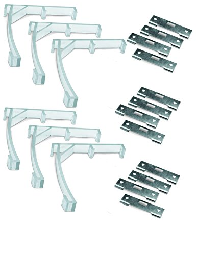 gmagroup Vertical Blind Repair Kit - 6 Valance Clips and 12 Silver Vane ()