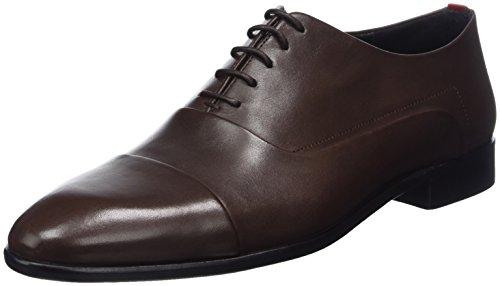 Hugo Appeal_oxfr_ltct, Scarpe Stringate Oxford Uomo Marrone (Dark Brown 202)