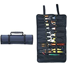 Tool Roll Pouch Agywell Multi-pocket Canvas Tool Roll Bag Tool Holder Toolbox Wear-resistant And Waterproof