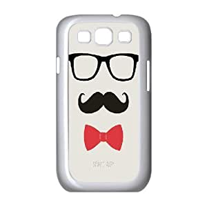 Jumphigh STAY CLASSY MUSTACHE & BOW TIE Samsung Galaxy S3 Cases, {White}