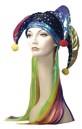 Lacey Wigs Jester Headpiece Multi Color]()
