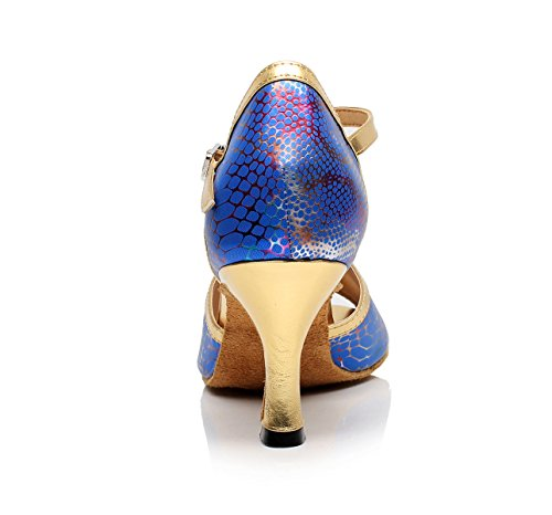 Modern Blue EU34 Chacha Jazz High Heels UK3 Shoes heeled7 Shoes Sandals JSHOE 5cm Dance Latin 5 Tango Women's Our35 Salsa Samba 1x6zH8Y