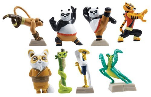 Tiny Panda - Kung Fu Panda Legends of Awesomeness Tiny Figure Set - Set of 8 Figures