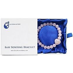 Baby Bonding Bracelet - Award Winning New Mom Gift (8mm beads in presentation box)