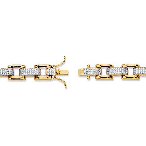 Gold plated diamond accent bracelet