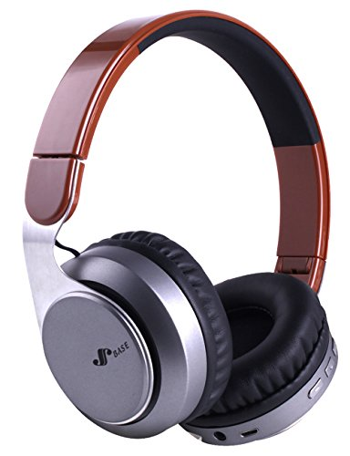8 Hours Music Mode Bluetooth Headphones Over Ear, Bluetooth V4.2 Hi-Fi Stereo Foldable Wireless and wired Headset with Micro for Ipad ,TV,Cellphones,PC(Brown)