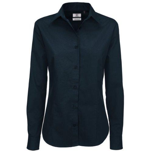 B & C Collection Sharp Lange Ärmel Damen Shirt Dark Grau S