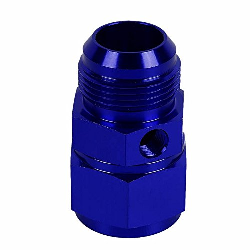 Blue Aluminum Anodize Finish 16AN Female to 16AN Male with 1/8