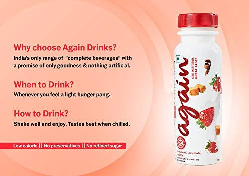 Again Milkshake – Strawberry, Chocolate, Jaggery (200 ml X 4)