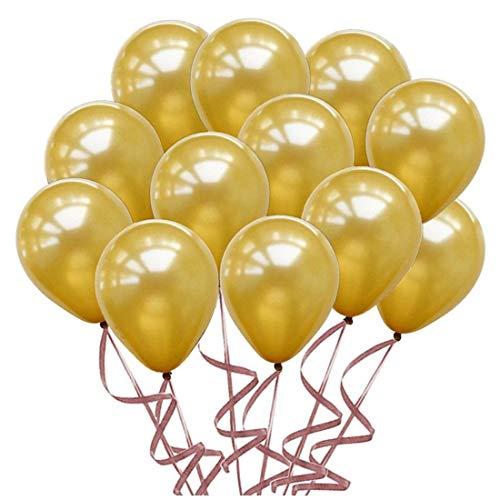 100pcs Gold Balloons 10