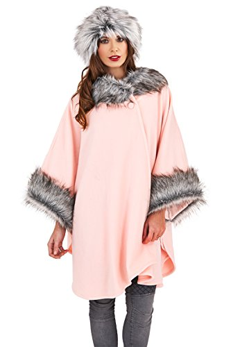 Loungeable Boutique - Poncho - para mujer rosa pastel