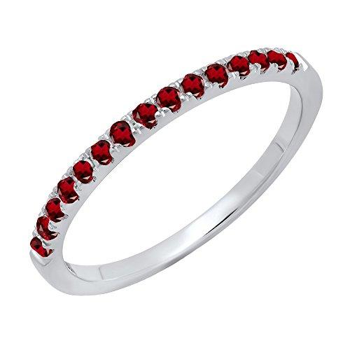 Dazzlingrock Collection 14K Round Garnet Ladies Bridal