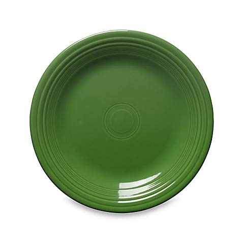 Dinner Plate in Shamrock Chip-Resistant with a Brilliant Glaze Durable Ceramic ()