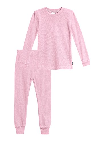 City Threads Little Girls Thermal Underwear Set Perfect for Sensitive Skin SPD Sensory Friendly, Bright Light Pink- 2T