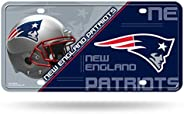 RICO Industries NFL New England Patriots Unisex New England Patriots License Plate Metalnew England Patriots L
