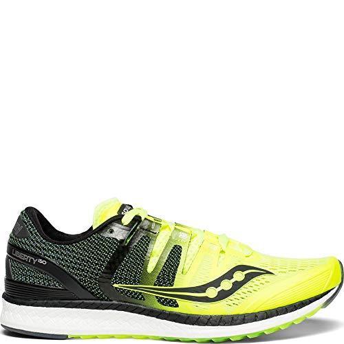 Saucony Men's Liberty ISO Shoes, Citron/Black, 11.5