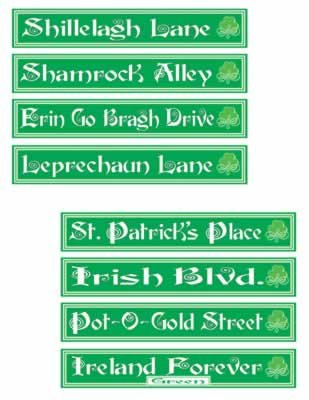 St Patrick's Day Street Sign Cutouts   (4/Pkg)]()