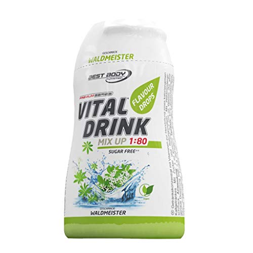 3 x Best Body Nutrition Vital Drink Flavour Drops, 48ml Squeeze Flasche , Waldmeister (3er Pack)