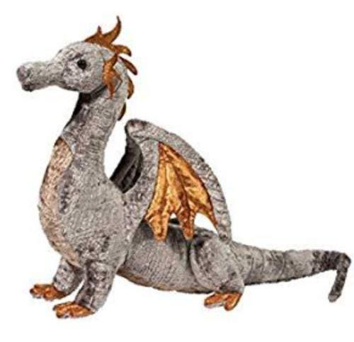 16 inch Faust Silver Dragon Plush Stuffed Anima