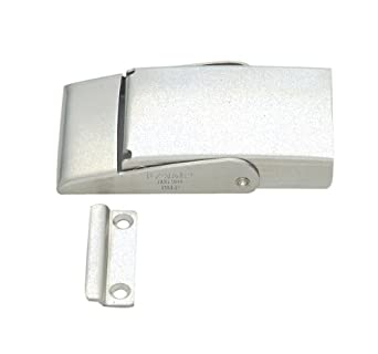 "Stainless Steel 304 Spring Loaded Draw Latch, Satin Finish, Non Locking, 3 15/16"" Length (Pack of 1)"