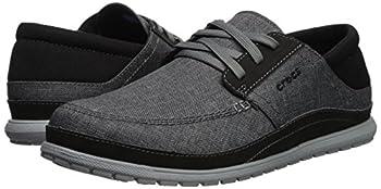 Crocs Men's Santa Cruz Playa Lace M Sneaker, Slate Greylight Grey, 10 M Us 5