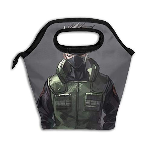 Insulated Lunch Bag Naruto Kakashi Printed, Thermal Or Refrigerated Reusable Lunch Tote For Work School Picnic