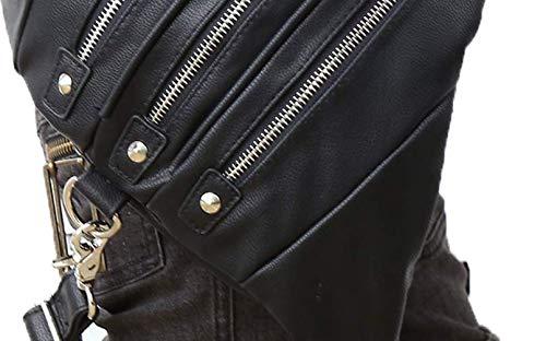 diseño Bolso Steampunk Bandolera negro para Viaje única de Black1 Mujer con de Qiu Talla UgxpqBx
