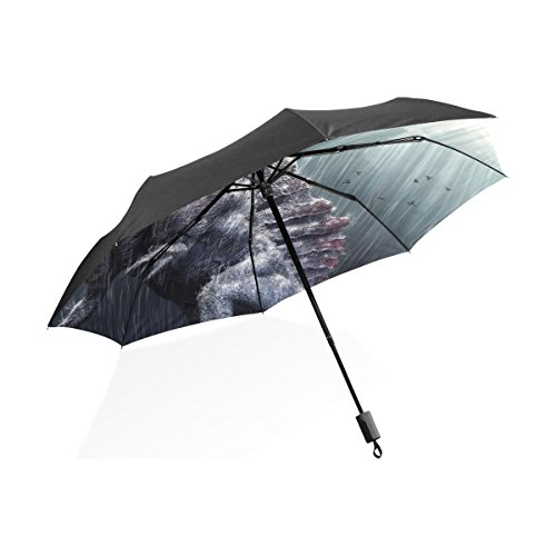 Florence Cool Spinosaurus Dinosaur With Tropical Storm Foldable Sun-proof Umbrella Folding Waterproof Windproof Umbrella
