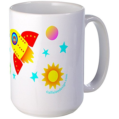 CafePress Little Adventurer In Space! Large Mug Coffee Mug, Large 15 oz. White Coffee Cup