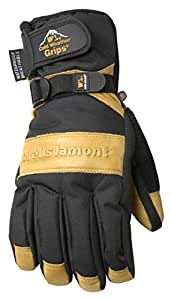 Wells Lamont 7660L Ultimate Water Resistant Insulated Winter Gloves with Cowhide Leather Palm, Large