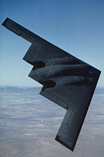 - Northrop B2 Stealth Bomber in Flight Photo Art Print Poster 24x36 inch