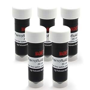 FerroTec F4MFF20S-5 - Ferrofluido para manualidades y ciencia (5 unidades de 20 ml)