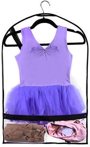 Small Clear Children/'s Garment Bag for Dance Dance Costume Bag