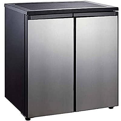 Igloo 5.5-cu. ft. Side-by-Side 2-Door Refrigerator/Freezer, Stainless Steel Material, Silver Color /Model: FR551