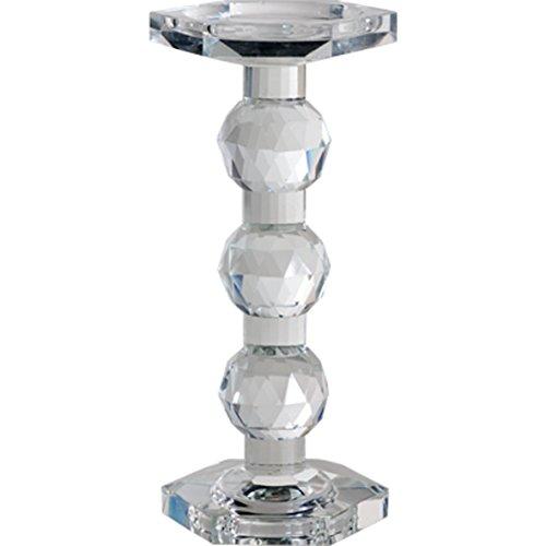 """A&B Home Tall Sylvie Lead Crystal Pillar Candle Holder, 9.5"""""""