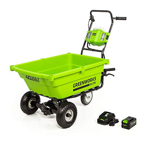 Greenworks 40V Cordless Lawn Cart, 3AH Battery and Charger Included, LC-220