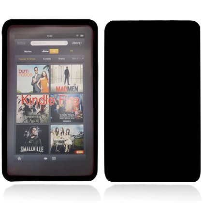 Photo - For Amazon Kindle Fire Accessory - Black Skin Gel Case Protector Cover + Free Resistive Stylus Pen