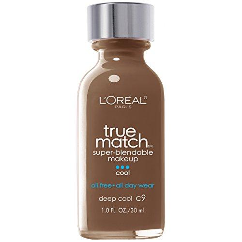 Cool Face Makeup (L'Oréal Paris True Match Super-Blendable Makeup, Deep Cool, 1 fl. oz.)