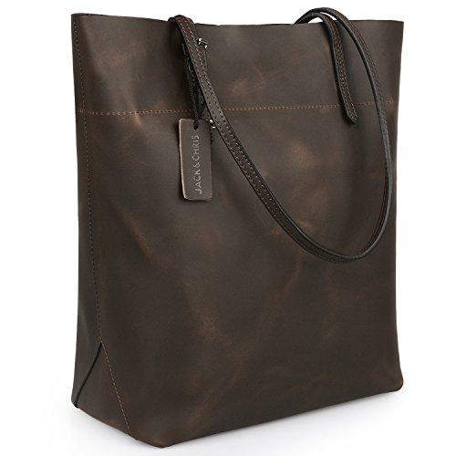 Small Quilted Cosmetic Handbag Quilt (Jack&ChrisPerfect Ladies' Genuine Leather Tote Bag Handbag Shoulder Bag,YSZ112)
