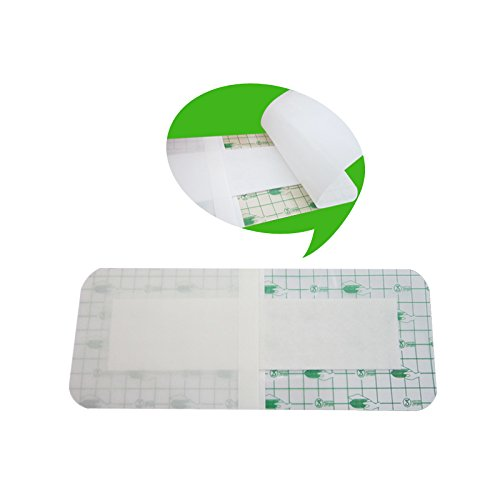zinnor 10Pcs Film Dressing, Adhesive Wound Dressing,Waterproof Bath Posts, Self-Paste,3.9 x 9.8\'\'(10 cm x 25 cm)