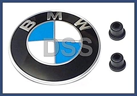 BMW (1987-2010) front Hood engine lid / Trunk lid EMBLEM badge KIT oem for e30 e32 e34 e36.7 e36 e38 e60 e61 e85 f01 f02 - 1990 Bmw M3 Engine