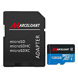 Marceloant USB Flash Drives for Phones, Memory Card Reader, Micro SD/TF Card Reader for iPhone iPad iOS Android 32GB Memory Stick 126 UHS-1 Class 10 specifications, enabling fast file transfer speeds and Full-HD video recording. Write 30-60MB/s, Transfer Speed 40-80MB/s, comes with SD adapter for use in cameras High compatibility for different types of devices including smartphones, tablets, DSLR and HD camcorder.